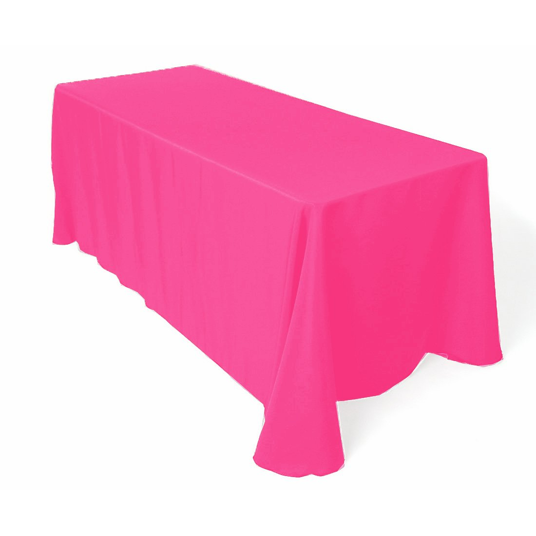 Amazon.com: Tablecloth Polyester Rectangular 90x132 Inch Hot Pink By  Broward Linens: Home U0026 Kitchen