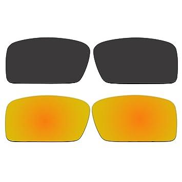 Polarizadas Negro y oro lentes de repuesto para Oakley Gascan Small (S) gafas de