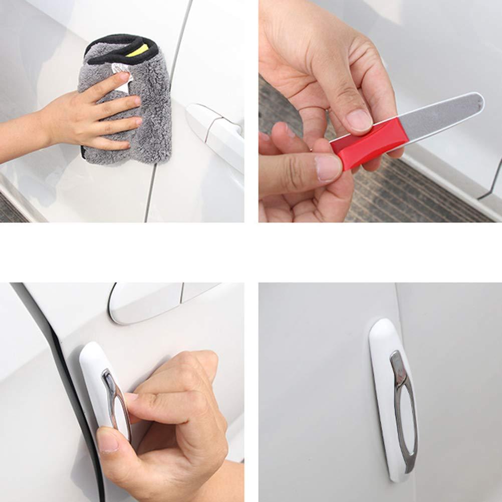 LIOOBO Protezioni Bordo Porta Auto Anti collisione Adesivo Strisce Anti-sfregamento Car Door Protector Pack di 4