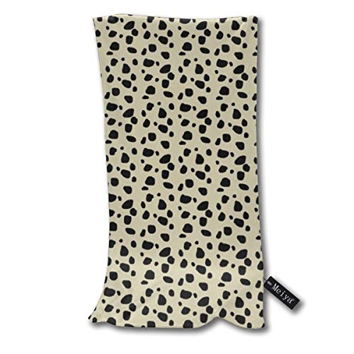 Cheetah Spots Small Ivory Multi-Purpose Microfiber Soft Fast Drying Travel Gym Home Hotel Office Washcloths