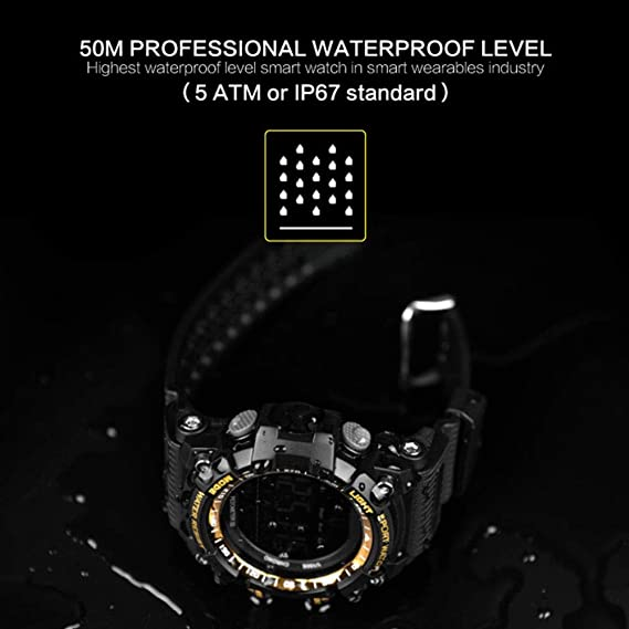 Smart Watch Bluetooth Digital Men Clock Pedometer smartwatch ...