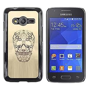 Be Good Phone Accessory // Dura Cáscara cubierta Protectora Caso Carcasa Funda de Protección para Samsung Galaxy Ace 4 G313 SM-G313F // Skull Floral Butterfly Spring Death