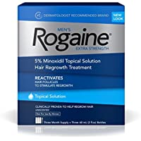 3-Pack Rogaine Men's Hair Regrowth Treatment Extra Strength Unscented 2 Oz. Bottles