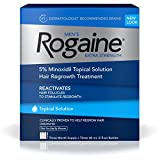 Beauty : Rogaine for Men Hair Regrowth Treatment, Extra Strength Topical Solution (Pack of 3)