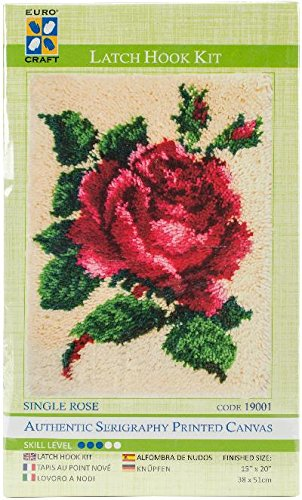 (Needleart World Single Rose Latch Hook Kit)