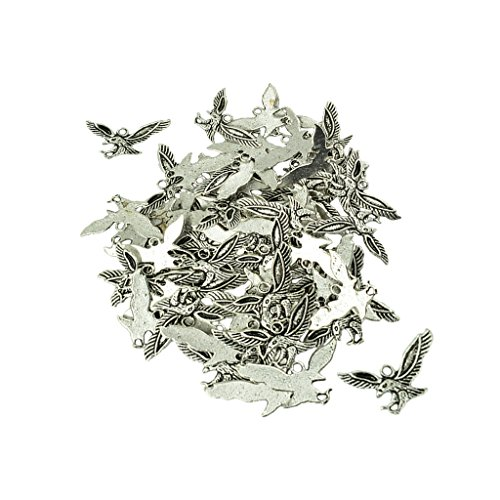 Jili Online 50 Pieces American EaglePowers Lucky Zinc Alloy Charms Pendant for Jewelry Findings Necklace Making