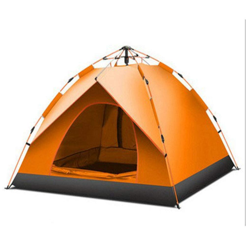 Ysy Automatisches Zelt Outdoor 3-4 Personen Blau, Orange, Dunkelgrün Campingzelt,Orange