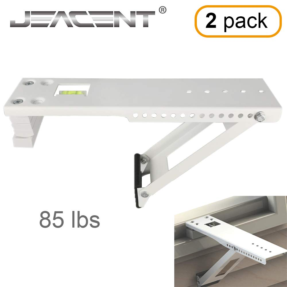 Jeacent Universal AC Window Air Conditioner Support Bracket Heavy Duty, Up to 85 lbs, 2Packs by Jeacent