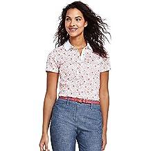 Lands' End Women's Petite Print Pima Cotton Polo Shirt