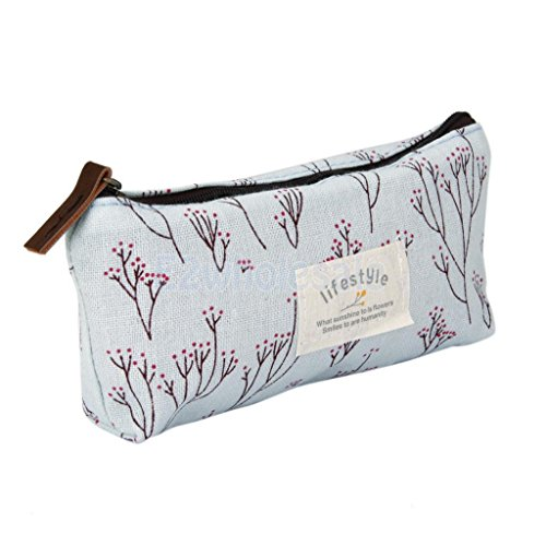 Smartchef Flower Canvas Pencil Pen Case Cosmetic Bag Storage Pouch Purse (Trina Pencil Holder)