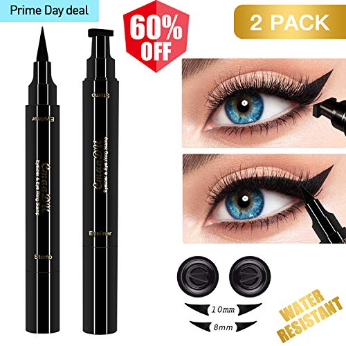 2 Pcs Winged Eyeliner Stamp Pencil for Eyes Makeup