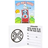 2nd Birthday Train Party Supplies - Invitations (8)