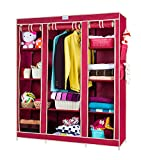 CbeeSo 10 Racks High Capacity Metal Frame Foldable Wardrobe (CB360-MR). EXTRA SPECIAL OFF....