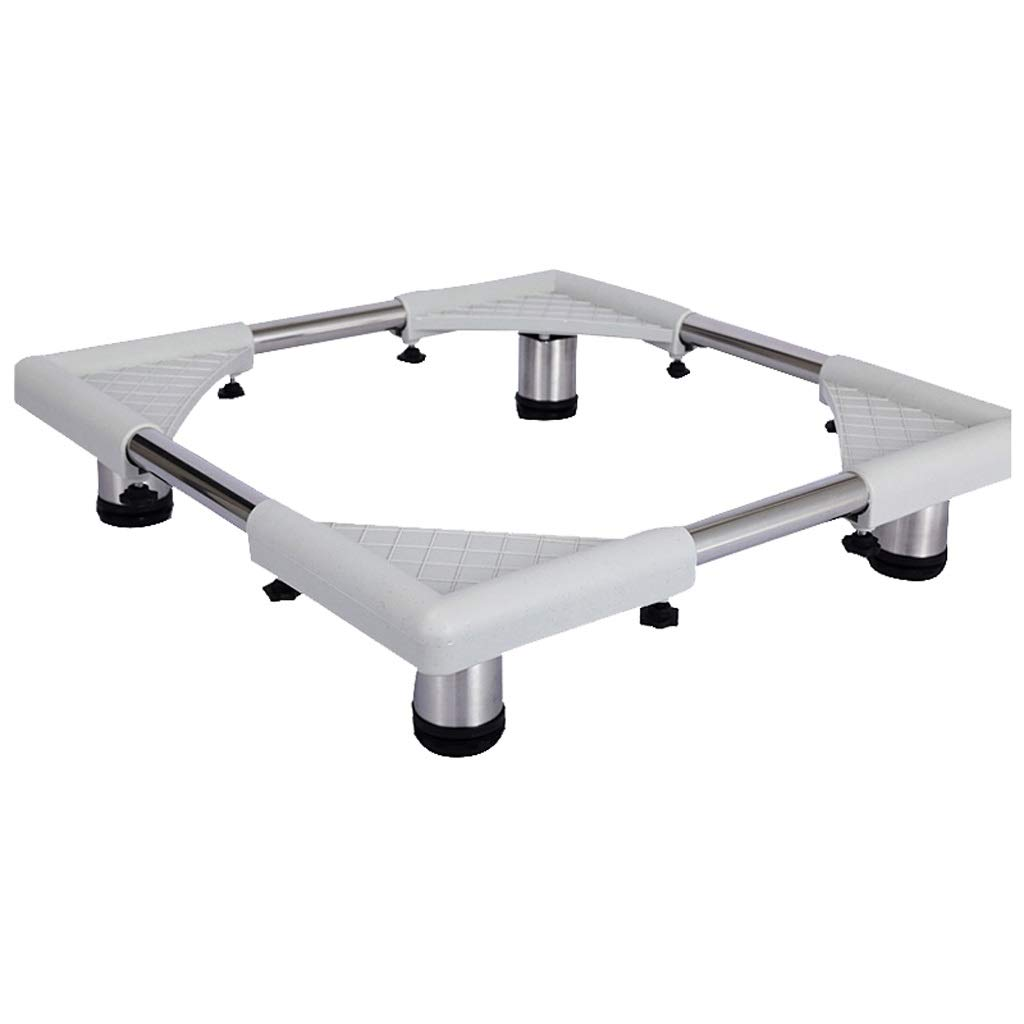 NingNing Washing Machine Stainless Steel Adjustable Height Bracket for Furniture Refrigerator Washing Machine Heavier Items, 43.5x36.5x7.5cm Moving The Tool Base (Color : A)