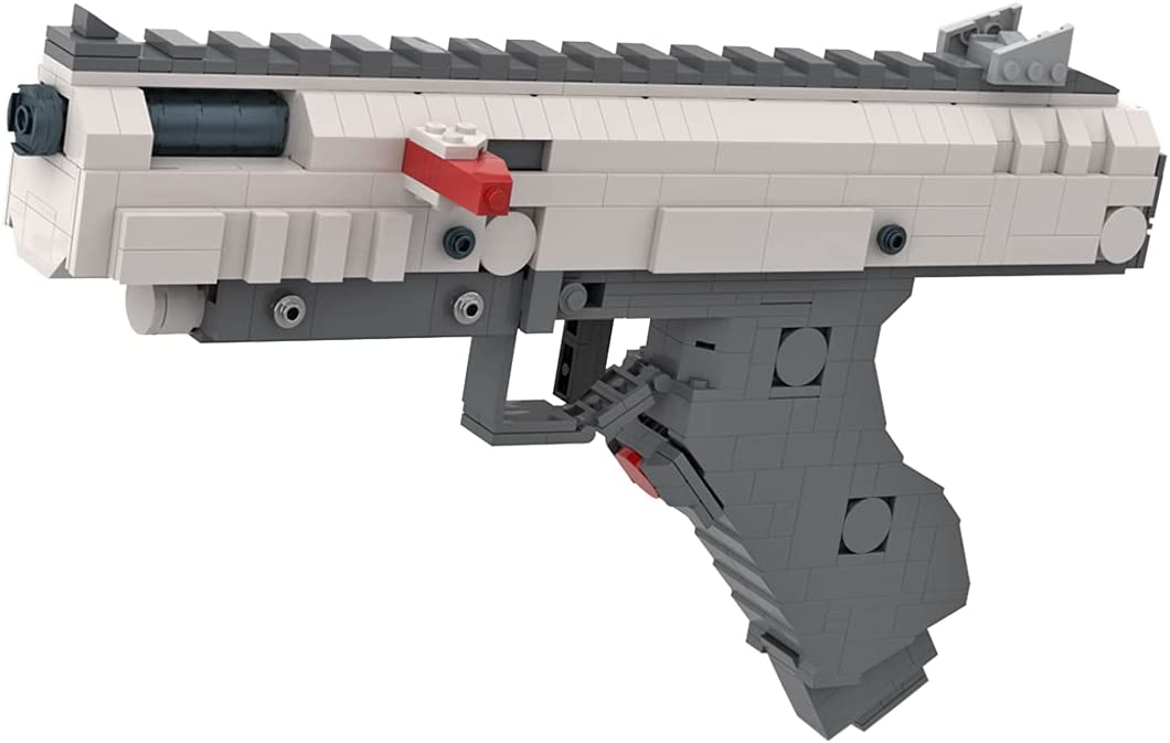 SENG Pistola desert Eagle con función de disparo, 672 piezas, juguete de construcción para niños y adultos, compatible con Lego