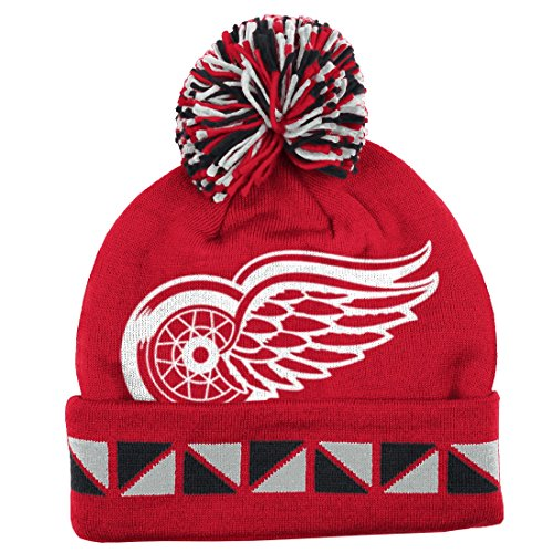 Mitchell & Ness Detroit Red Wings Jacquard Knit Hat