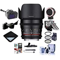 Rokinon 50mm T1.5 Cine DS Lens for Sony E Mount - Bundle With 77mm Filter Kit, Peak Lens Changing Kit Adapter, LensAlign MkII Focus Calibration System, FocusShifter DSLR Follow Focus And More