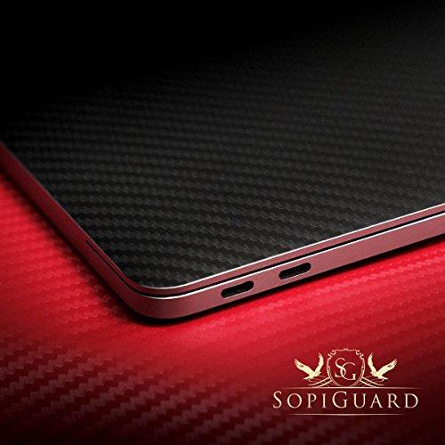 SopiGuard 3M Brushed Gunmetal Gray Full Body Precision Edge-to-Edge Coverage Vinyl Sticker Skin for Apple Macbook Pro 15 Touch Bar (A1707 A1990) by SopiGuard (Image #5)