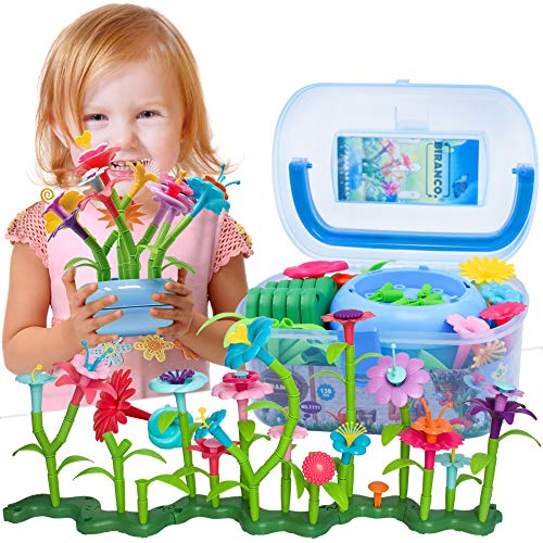 BIRANCO. Flower Garden Building Set – Grow up! Fun Stacking Toys for Toddlers and Kids Age 3-6 Year Olds, Educational…