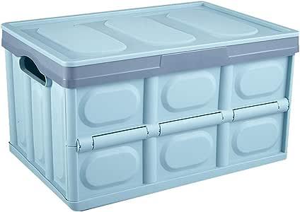 Almacenamiento Plástico Cesto Plegable Apilables Cajas Almacenaje Caja Plegable Lea Cesta Ordenación Portátil Organizador Del Coche Envase Multifuncional Plegable Para El,Azul,L: Amazon.es: Hogar