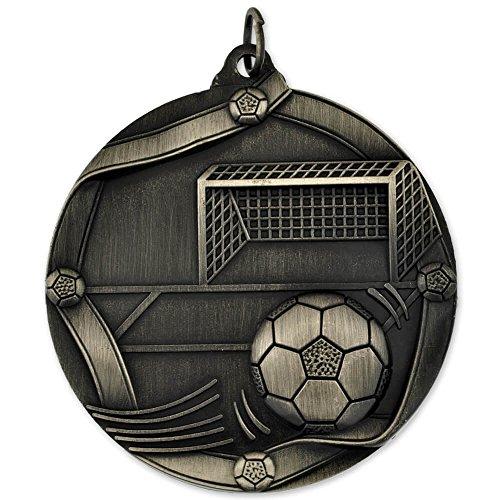 PinMart Soccer Award Sports Bulk Medal - Silver 3d Diecast Medals