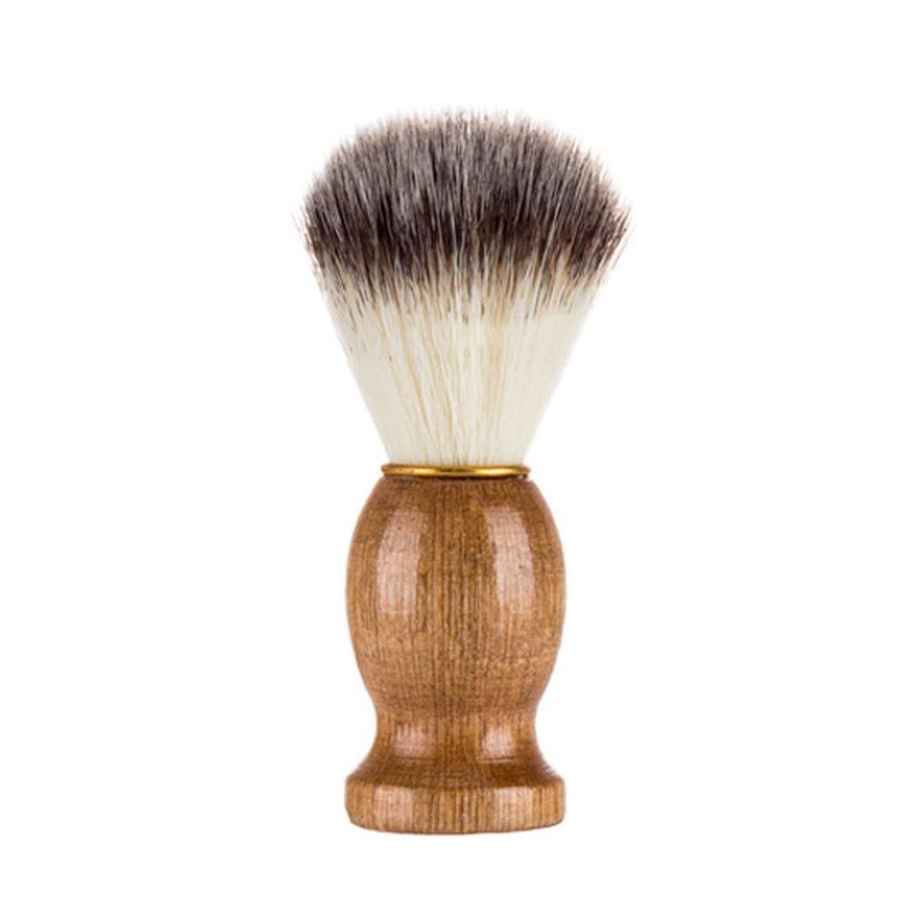 TrimakeShop Men's Shaving Brush Wood Handle Synthetic Hair Professional Salon Tool for for Shaving Razor (1 Pack)