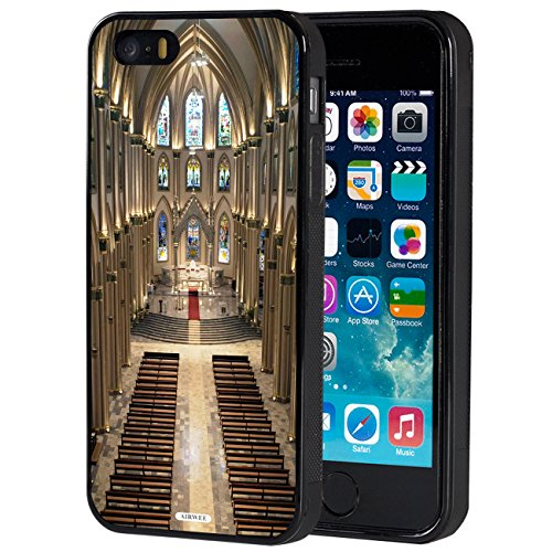iPhone 5S Case,iPhone SE Case,AIRWEE Slim Anti-Scratch Shockproof Silicone TPU Back Protective Cover Case for Apple iPhone 5S/SE/5,Notre Dame Cathedral (Notre Dame Iphone 4 Case)