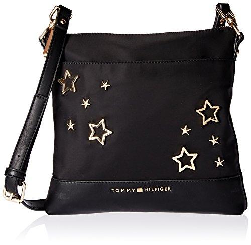 Tommy Hilfiger Crossbody Bag for Women Maisie, Black Stars