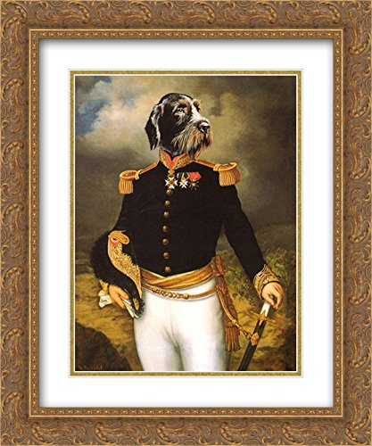 (Ceremonial Dress 2X Matted 15x18 Gold Ornate Framed Art Print by Thierry Poncelet)