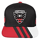 Outerstuff MLS D.C. United R S8FMK Youth Boys Flatbrim Snapback, One Size (8), Black
