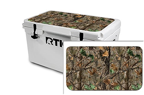 USA Tuff Thickest & Toughest Wrap 24Mil Decal fits New or Old Style RTIC 65QT Cooler Lid Kit – Woodland Camo