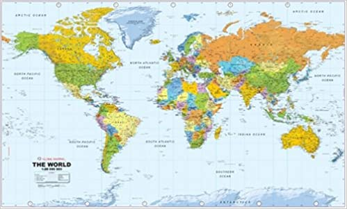 Huge world wall map world wall maps amazon global huge world wall map world wall maps amazon global mapping 9780755808052 books gumiabroncs Image collections