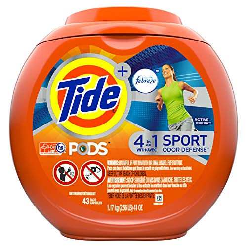 ze Odor Defense Laundry Detergent pacs, Active Fresh Scent, 43 Loads, 1 Count ()