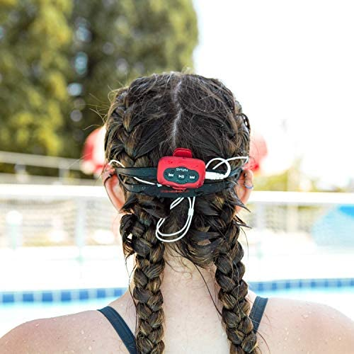 Swimbuds Color Waterproof Headphones and eight GB SYRYN Waterproof MP3 Player with Shuffle Feature (Compatible with Post-2009 iTunes Files)