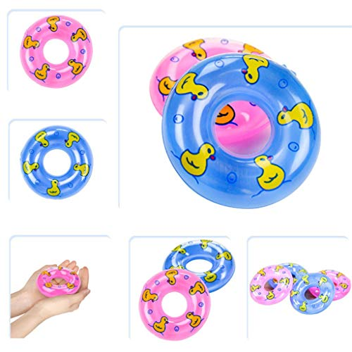 Mini Swimming Rings Bathtub Toys for Toddlers, Baby Bath Shower Toy, Floating Toys Gift for Boys Girls Children Eco-Friendly Material-Random Color