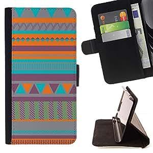 Momo Phone Case / Flip Funda de Cuero Case Cover - Arte Nativo Americano acolchado del trullo - Sony Xperia M5