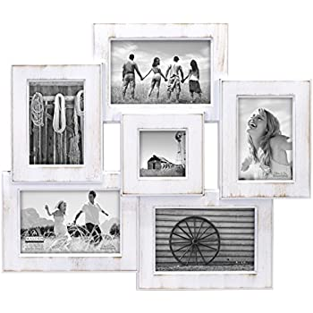 Amazon.com - Adeco White Wood 12 Openings Wall Collage Picture Frame ...