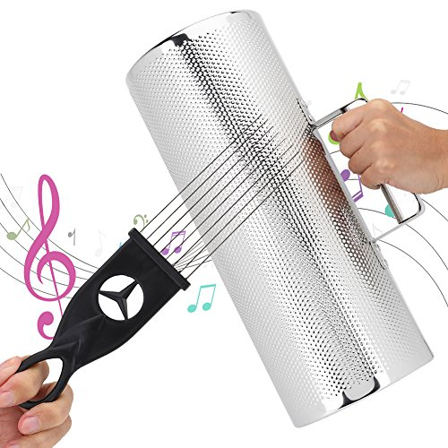 Metal Guiro Professional Stainless Steel Percussion Instrument Guiro with Scraper (512.8'')
