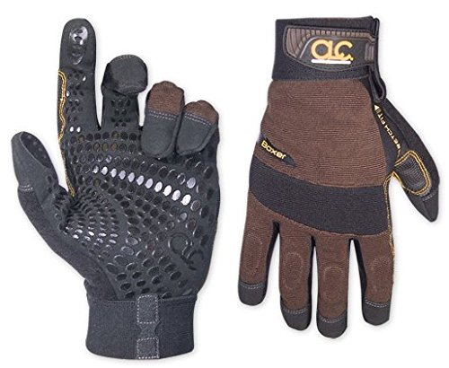 Custom Leathercraft 135M Brown Boxer Glove, Medium
