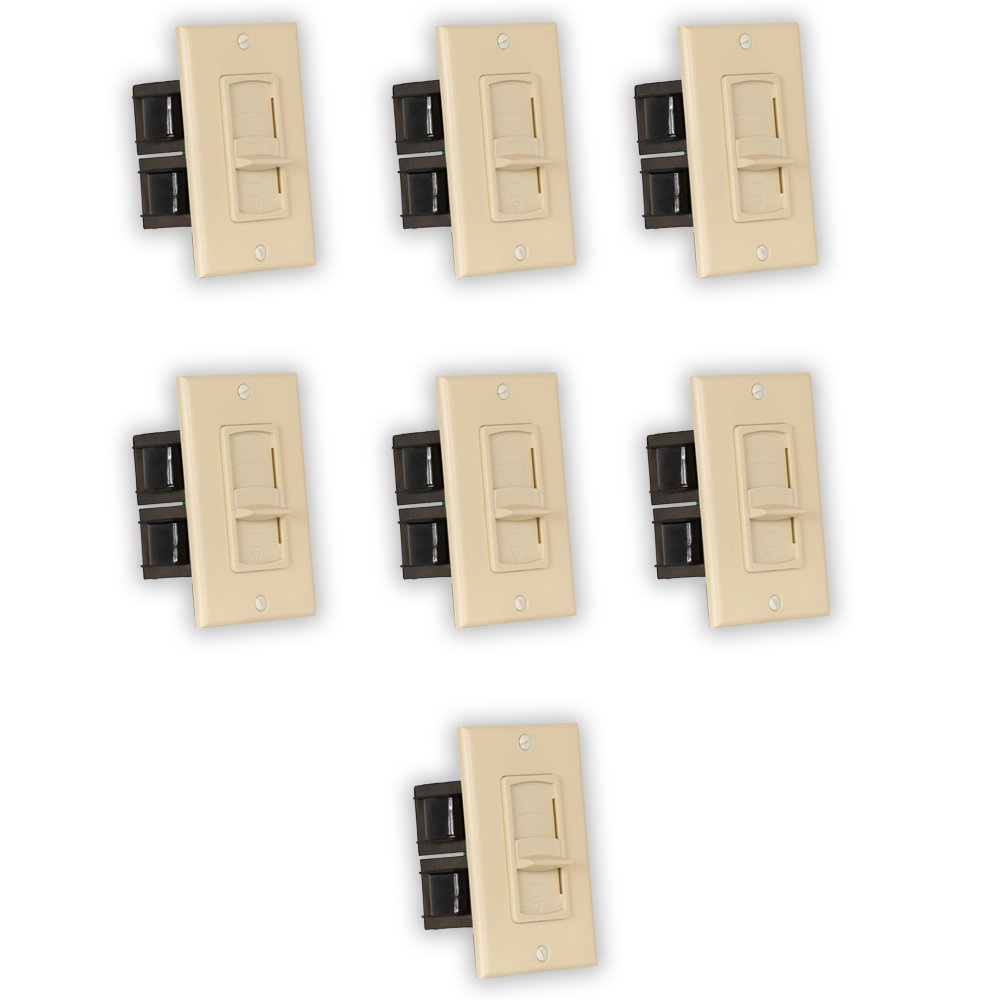 Theater Solutions TSVCS-I Indoor Speaker Volume Controls Ivory Slide Audio Switches 7 Piece Pack