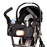 Angel Baby Stroller Organizer with Cup Holders: Stroller Accessories, Black