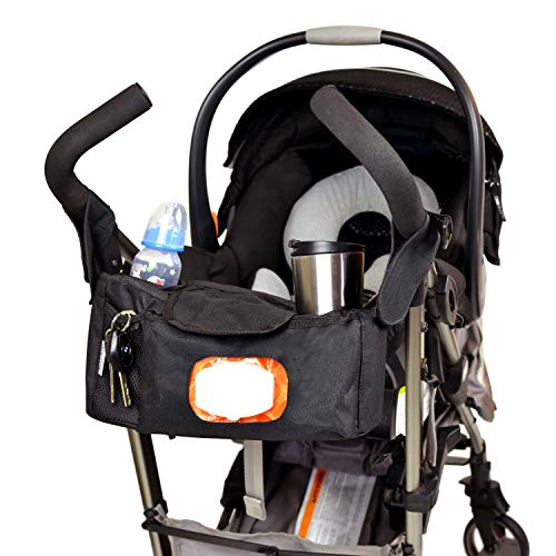 - Angel Baby Stroller Organizer with Cup Holders: Stroller Accessories, Black