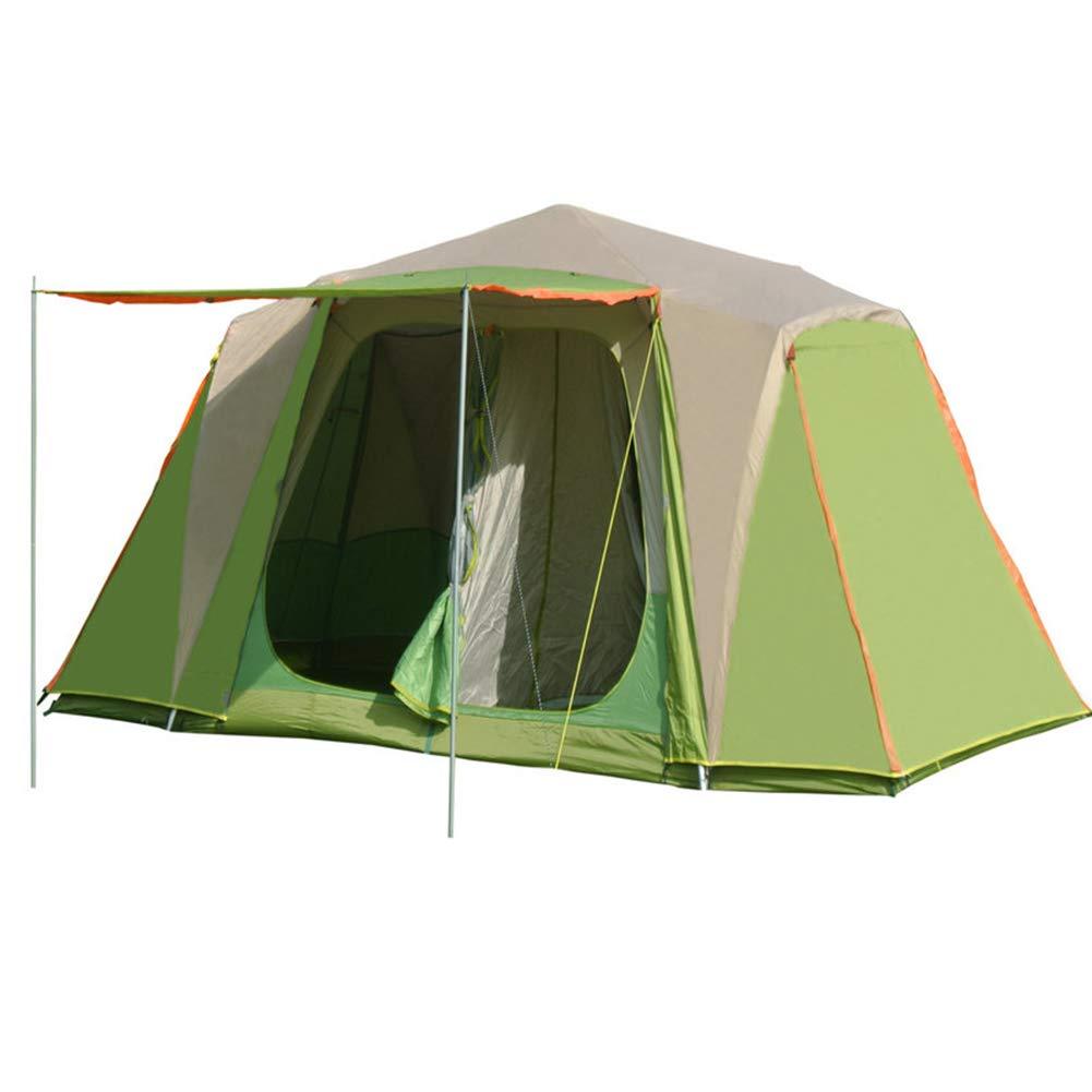 AußEnzelt, 6-10 Personen Familienzelt Doppel Zelt Camping, Outdoor Tragbare Mobile GebäUde Regen Camping, Wandern, Angeln, Bergsteigen (GrüN) Nanayaya