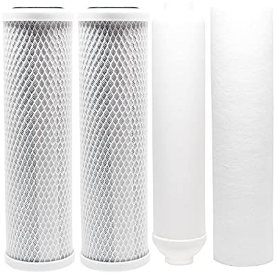 Replacement Filter Kit for Watts RO-TFM-5SV RO System - Includes Carbon Block Filters, PP Sediment Filter & Inline Filter Cartridge - Denali Pure Brand