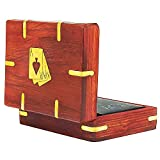 vintage ace case - Unique Birthday Gift Ideas Handcrafted Classic Wooden Playing Card Holder Deck Box Storage Case Organizer With A Set of Premium Quality 'Ace' Playing Cards Anniversary Housewarming Gifts For Him Her