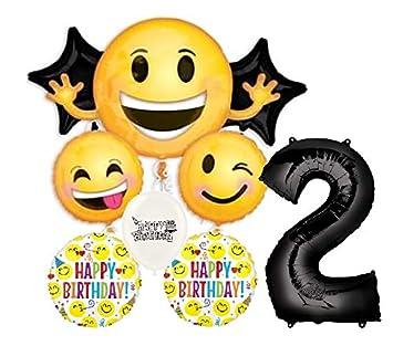 Amazon.com: Ultimate Emoji Emoticon - Ramo de globos para ...