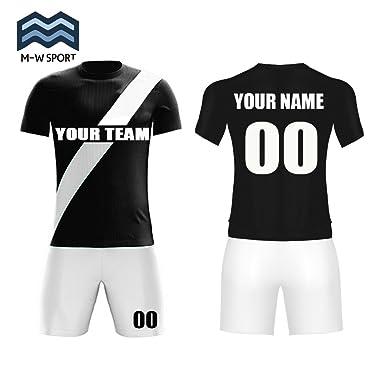 8ad3af355 Custom Sports Soccer Jerseys Diagonal Stripe Design Add Your own Name and  Number (Black