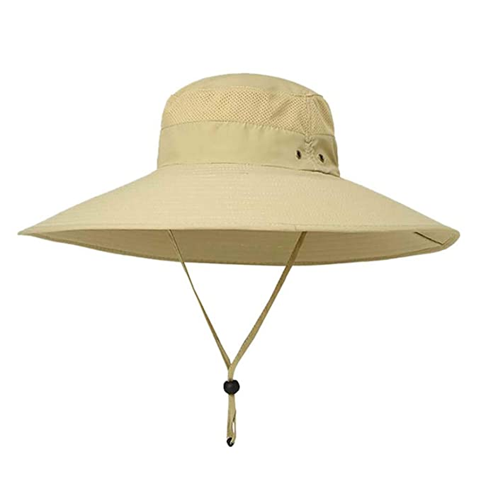 52c6d00dc46431 Amazon.com: Unisex Outdoor Hiking Hat Wide Brim Bucket Hats Sunhat Male  Fishing Hat Casual Jungle Fisherman Hat Summer: Clothing