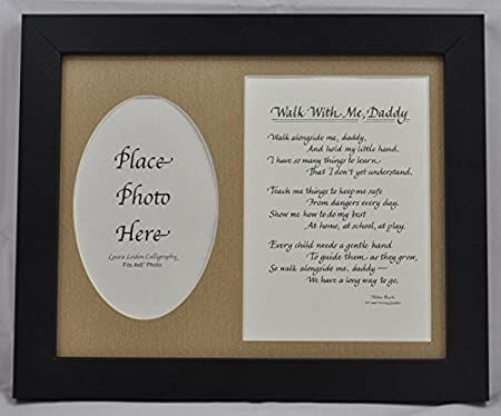 All Things For Mom Walk With Me Daddy Poem Picture Frame Gift 8x10
