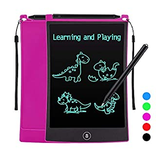 Tesoky Toys for 3-10 Year Old Girls Kids, LCD Writing Tablet 8.5 inch Educational Toys Stocking Stuffers for Girls Kids Age 3-10 Birthday Gifts Christmas Xmas Gifts for Girls Kids Age 3-12 (Rose Red)